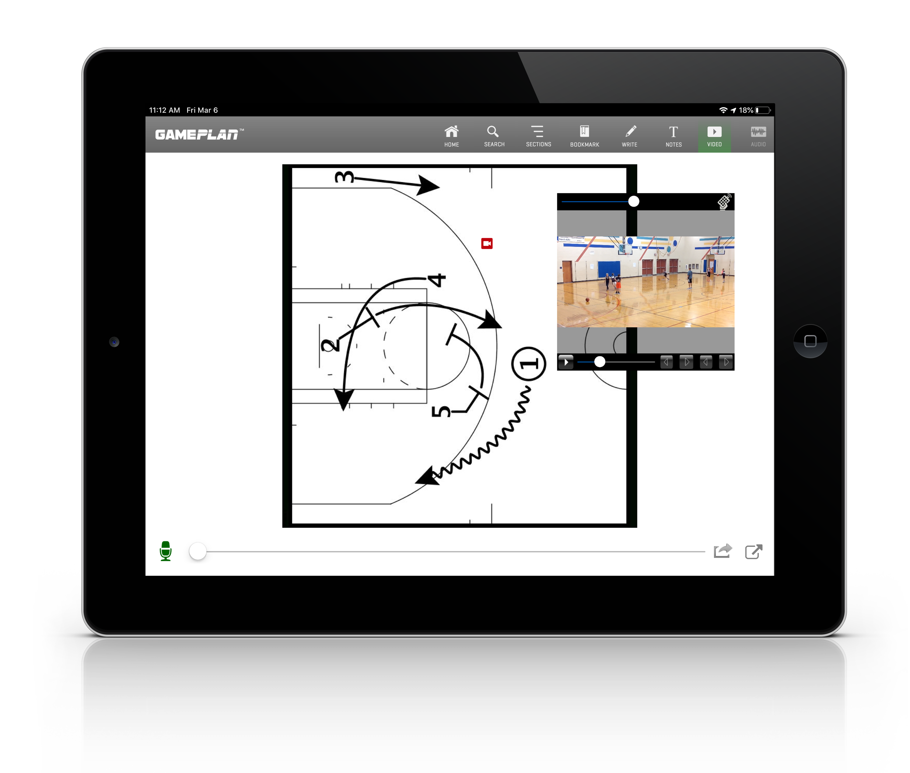 GamePlan iPad Basketball Play